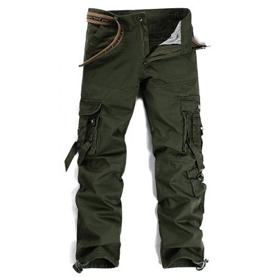 Zipper Fly Cargo Pants