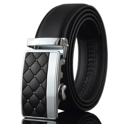 Zircon Argyle Carve Metal Automatic Buckle Belt