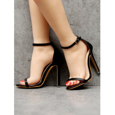 Ankle Strap Mini Heel SandalsWomens Sandals<br>Ankle Strap Mini Heel Sandals<br><br>Closure Type: Buckle Strap<br>Gender: For Women<br>Heel Height: 11CM<br>Heel Height Range: Super High(Above4)<br>Heel Type: Stiletto Heel<br>Occasion: Party<br>Package Contents: 1 x Sandals (pair)<br>Pattern Type: Solid<br>Sandals Style: Ankle Strap<br>Shoe Width: Medium(B/M)<br>Style: Fashion<br>Upper Material: PU<br>Weight: 1.5000kg