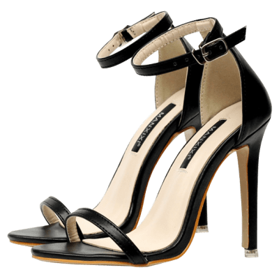 Ankle Strap Mini Heel Sandals