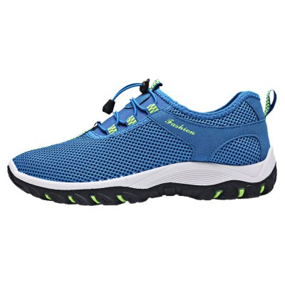 Breathable Letter Embellished Athletic Shoes