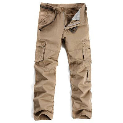 Zipper Fly Straight Leg Cargo Pants
