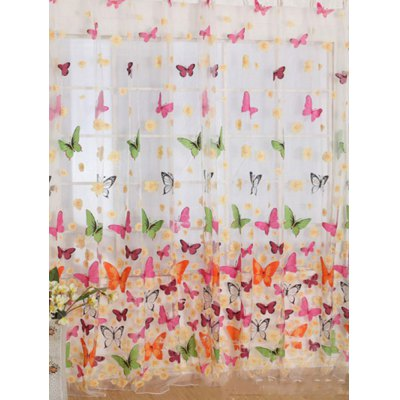 Butterfly Print Voile Curtain For Balcony BedroomWindow Treatments<br>Butterfly Print Voile Curtain For Balcony Bedroom<br><br>Applicable Window Type: French Window<br>Function: Translucidus (Shading Rate 1%-40%)<br>Installation Type: Ceiling Installation<br>Location: Window<br>Material: Mesh Fabric<br>Opening and Closing Method: Left and Right Biparting Open<br>Package Contents: 1 x Window Curtain<br>Pattern Type: Butterfly<br>Processing Accessories Cost: Excluded<br>Style: European and American Style<br>Type: Curtain<br>Use: Cafe, Home, Hotel, Office<br>Weight: 0.1600kg