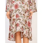 best Long Sleeve Midi Floral Print Dress