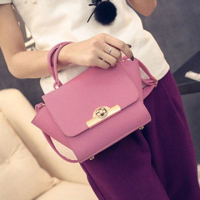 Fashionable Lichee Pattern and PU Leather Design Tote Bag For Women