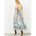 Maxi Cold Shoulder Floral Ruffle Cami Dress for sale