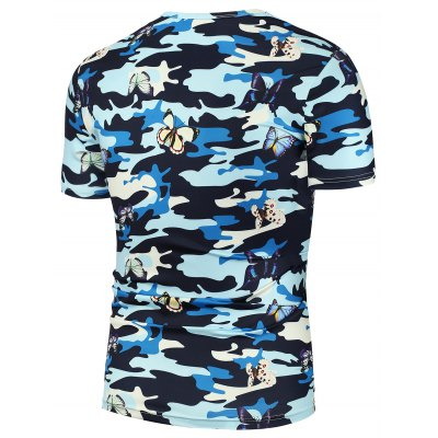 3D Butterfly Camouflage Printed T-ShirtMens Short Sleeve Tees<br>3D Butterfly Camouflage Printed T-Shirt<br><br>Collar: Crew Neck<br>Material: Polyester<br>Package Contents: 1 x T-Shirt<br>Pattern Type: Butterfly<br>Sleeve Length: Short<br>Style: Fashion<br>Weight: 0.1870kg