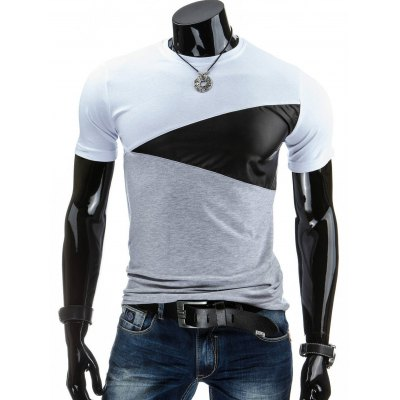 Casual Round Collar Pullover Color Block T-Shirt For Men