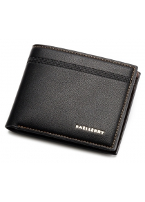 Bi Fold Textured Faux Leather Wallet