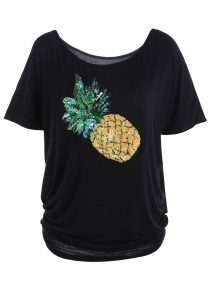 Tunic Top with Pineapple Sequins