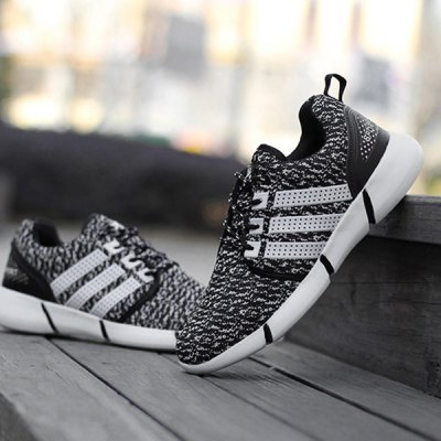 Breathable Mesh Striped Sneakers