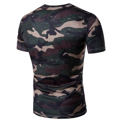 Star Camo TeeMens Short Sleeve Tees<br>Star Camo Tee<br><br>Collar: Crew Neck<br>Material: Cotton, Polyester<br>Package Contents: 1 x T-Shirt<br>Pattern Type: Camouflage<br>Sleeve Length: Short<br>Weight: 0.1900kg