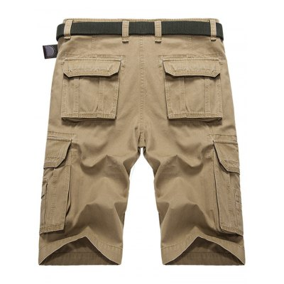 Multi-pocket Military Cargo ShortsMens Shorts<br>Multi-pocket Military Cargo Shorts<br><br>Closure Type: Zipper Fly<br>Fit Type: Regular<br>Front Style: Flat<br>Length: Knee-Length<br>Material: Cotton, Polyester<br>Package Contents: 1 x Shorts<br>Style: Casual<br>Waist Type: Mid<br>Weight: 0.4600kg<br>With Belt: No