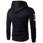 cheap Graphic Printed Kangaroo Pocket Pullover Hoodie