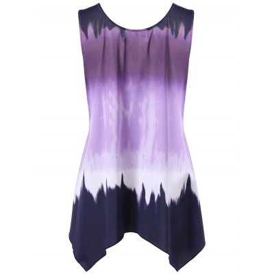 Plus Size Ombre Asymmetric Flowy Tank TopTank Tops<br>Plus Size Ombre Asymmetric Flowy Tank Top<br><br>Collar: V-Neck<br>Material: Nylon, Spandex<br>Package Contents: 1 x Tank Top<br>Pattern Type: Others<br>Season: Summer<br>Shirt Length: Regular<br>Sleeve Length: Sleeveless<br>Style: Vintage<br>Weight: 0.3700kg