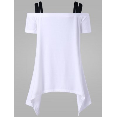 Off The Shoulder Skull Asymmetric T-ShirtTees<br>Off The Shoulder Skull Asymmetric T-Shirt<br><br>Collar: Off The Shoulder<br>Material: Polyester<br>Package Contents: 1 x T-Shirt<br>Pattern Type: Skull<br>Season: Summer<br>Shirt Length: Regular<br>Sleeve Length: Short<br>Style: Casual<br>Weight: 0.3800kg