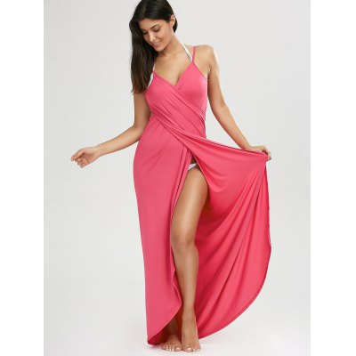 Beach Maxi Wrap Slip DressWomens Swimwear<br>Beach Maxi Wrap Slip Dress<br><br>Cover-Up Type: Dress<br>Gender: For Women<br>Material: Polyester<br>Neckline: Spaghetti Straps<br>Package Contents: 1 x Cover Up Dress<br>Pattern Type: Solid<br>Shirt Length: Long<br>Sleeve Length: Sleeveless<br>Waist: Natural<br>Weight: 0.3600kg