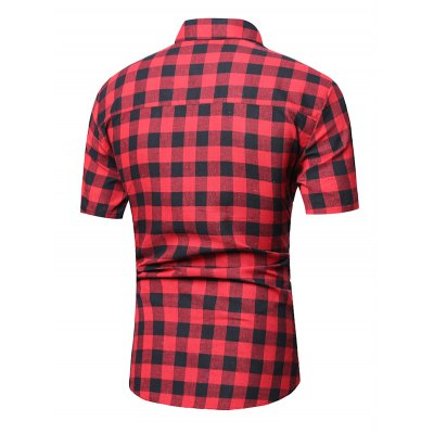 Short Sleeve Checked Linen ShirtMens Shirts<br>Short Sleeve Checked Linen Shirt<br><br>Collar: Turn-down Collar<br>Material: Cotton, Linen<br>Package Contents: 1 x Shirt<br>Pattern Type: Plaid<br>Shirts Type: Casual Shirts<br>Sleeve Length: Short<br>Weight: 0.2100kg