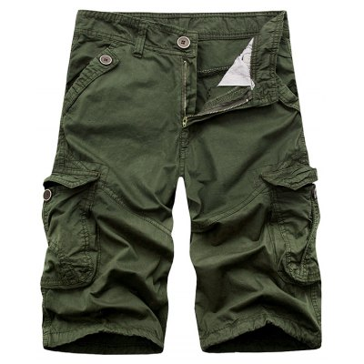 Zip Fly Cargo Shorts with Pockets