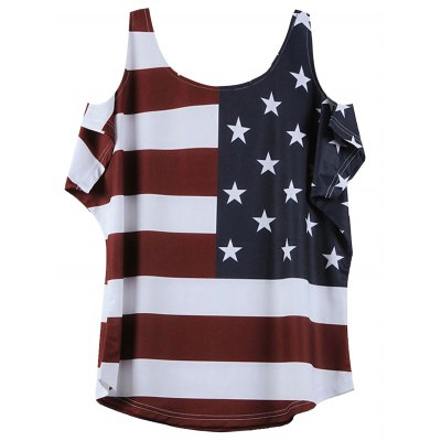 Distressed American Flag Pattern Cold Shoulder T-ShirtTees<br>Distressed American Flag Pattern Cold Shoulder T-Shirt<br><br>Collar: Round Neck<br>Material: Cotton Blends<br>Package Contents: 1 x T-Shirt<br>Pattern Type: American Flag<br>Season: Summer<br>Shirt Length: Regular<br>Sleeve Length: Short<br>Style: Casual<br>Weight: 0.1400kg