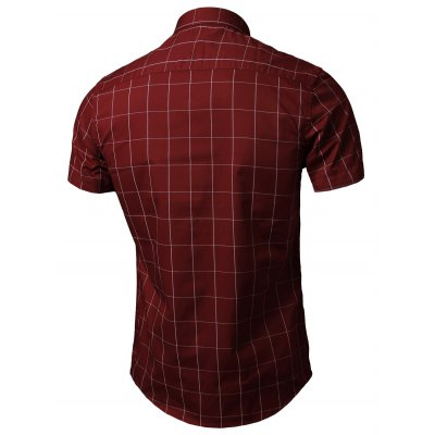 Short Sleeve Button Down Grid ShirtMens Shirts<br>Short Sleeve Button Down Grid Shirt<br><br>Collar: Turn-down Collar<br>Material: Cotton, Polyester<br>Package Contents: 1 x Shirt<br>Pattern Type: Plaid<br>Shirts Type: Casual Shirts<br>Sleeve Length: Short<br>Weight: 0.3000kg