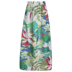 High Waisted Chiffon Printed Maxi Skirt deal