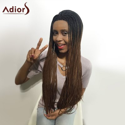 Adiors Two Tone Afro Braid Lace Front Long Synthetic HairLace Front Wigs<br>Adiors Two Tone Afro Braid Lace Front Long Synthetic Hair<br><br>Bang Type: None<br>Cap Construction: Capless<br>Cap Size: Average<br>Lace Wigs Type: Lace Front Wigs<br>Length: Long<br>Length Size(Inch): 26<br>Material: Heat Resistant Synthetic Hair<br>Occasion: Daily<br>Package Contents: 1 x Wig<br>Style: Braid Hair<br>Type: Lace Front<br>Weight: 0.4800kg