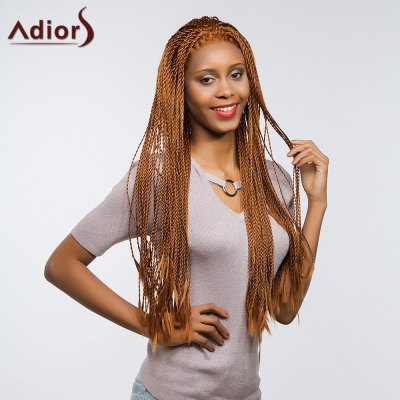 Adiors Long Senegal Twists Braids Front Lace Synthetic Wig fully hand synthetic lace front wig braided lace front wig in medium braids with high quality synthetic hair