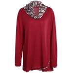 Plus Size Cowl Neck Overlay Blouse deal