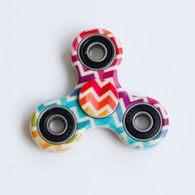 Fiddle Toy Colorful Zig-Zag Triangle Fidget Spinner