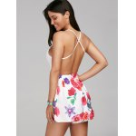 Sleeveless Criss Cross Backless Floral Romper for sale