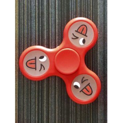Smiling Face Stree Relief Toy Triangle Fidget Spinner