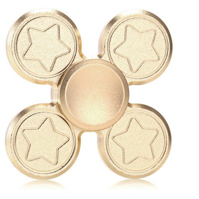 Finger Metal Fidget Spinner with Star Print ADHD Toys Spinning