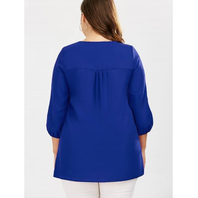 Plus Size Embroidered Rhinestone Tunic BlousePlus Size Tops<br>Plus Size Embroidered Rhinestone Tunic Blouse<br><br>Collar: V-Neck<br>Embellishment: Embroidery<br>Material: Polyester<br>Package Contents: 1 x Blouse<br>Pattern Type: Others<br>Season: Fall, Summer, Spring<br>Shirt Length: Long<br>Sleeve Length: Three Quarter<br>Style: Casual<br>Weight: 0.2370kg