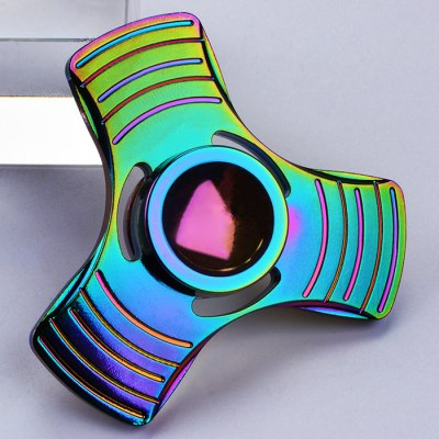 Fiddle Toy Colorful Triangle Fidget Metal Spinner
