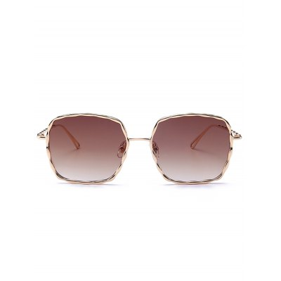 Ombre Wavy Rectangle Metal Frame SunglassesStylish Sunglasses<br>Ombre Wavy Rectangle Metal Frame Sunglasses<br><br>Frame material: Alloy<br>Gender: For Women<br>Group: Adult<br>Lens height: 5.0CM<br>Lens material: Resin<br>Lens width: 5.8CM<br>Nose: 1.8CM<br>Package Contents: 1 x Sunglasses<br>Shape: Rectangle<br>Style: Fashion<br>Temple Length: 14.8CM<br>Weight: 0.0500kg