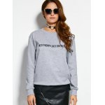 cheap Text Graphic Pullover Sweatshirt