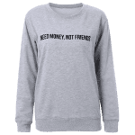 Text Graphic Pullover Sweatshirt deal