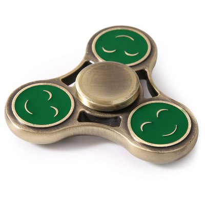 Triangle Smiling Face Metal Fidget Spinner Gyro