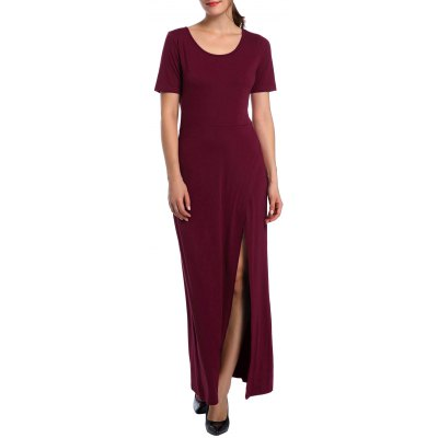 High Waist Split Maxi Dress