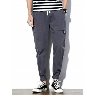 Big Pockets Drawstring Tapered Pants