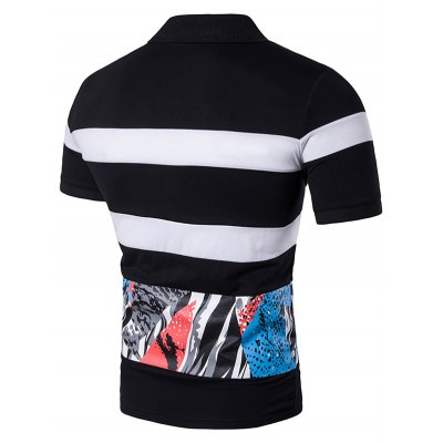 Stripe Color Block Splatter Paint Print Panel Polo T-ShirtMens Short Sleeve Tees<br>Stripe Color Block Splatter Paint Print Panel Polo T-Shirt<br><br>Collar: Polo Collar<br>Embellishment: Spliced<br>Material: Cotton, Polyester<br>Package Contents: 1 x Polo T-Shirt<br>Pattern Type: Striped<br>Sleeve Length: Short<br>Style: Fashion<br>Weight: 0.3000kg