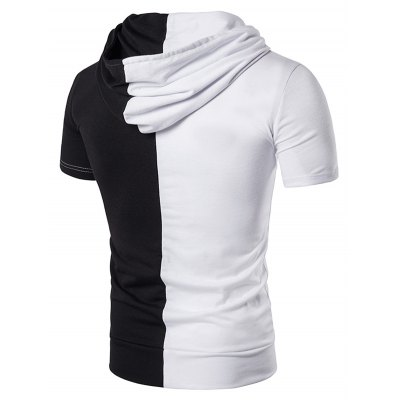 Hooded Color Block Panel Pocket T-ShirtMens Short Sleeve Tees<br>Hooded Color Block Panel Pocket T-Shirt<br><br>Collar: Hooded<br>Embellishment: Pockets<br>Material: Cotton, Polyester<br>Package Contents: 1 x T-Shirt<br>Pattern Type: Solid<br>Sleeve Length: Short<br>Style: Fashion<br>Weight: 0.3400kg