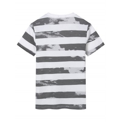 Slim Fit Striped T-ShirtMens Short Sleeve Tees<br>Slim Fit Striped T-Shirt<br><br>Collar: Crew Neck<br>Material: Cotton Blends, Polyester, Spandex<br>Package Contents: 1 x T-Shirt<br>Pattern Type: Striped<br>Sleeve Length: Short<br>Style: Casual<br>Weight: 0.2230kg