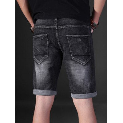 Slim Fit Destroyed Denim ShortsMens Shorts<br>Slim Fit Destroyed Denim Shorts<br><br>Closure Type: Zipper Fly<br>Fabric Type: Denim<br>Fit Type: Regular<br>Front Style: Flat<br>Length: Short<br>Material: Cotton, Jean<br>Package Contents: 1 x Shorts<br>Style: Casual<br>Waist Type: Mid<br>Weight: 0.4300kg<br>With Belt: No