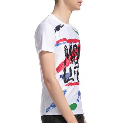Crew Neck Graphic Splatter Paint Print T-ShirtMens Short Sleeve Tees<br>Crew Neck Graphic Splatter Paint Print T-Shirt<br><br>Collar: Crew Neck<br>Material: Cotton, Polyester<br>Package Contents: 1 x T-Shirt<br>Pattern Type: Letter<br>Sleeve Length: Short<br>Style: Fashion<br>Weight: 0.2200kg