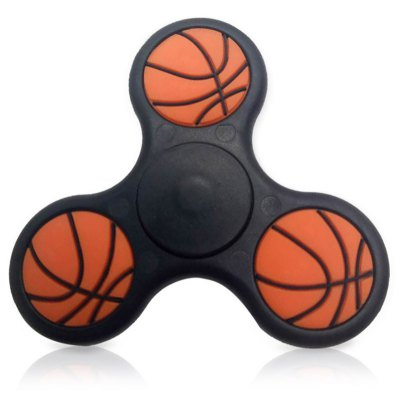 Stress Relief Toy Basketball Pattern Triangle Fidget Finger Spinner