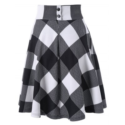 Zippered High Waisted Checked SkirtSkirts<br>Zippered High Waisted Checked Skirt<br><br>Length: Knee-Length<br>Material: Polyester, Spandex<br>Package Contents: 1 x Skirt<br>Pattern Type: Plaid<br>Season: Summer<br>Silhouette: A-Line<br>Weight: 0.4200kg