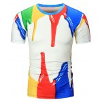 Paint Dripping 3D Print Tee