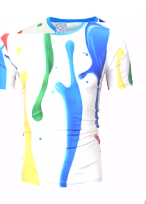 Paint Dripping 3D Printed T-Shirt